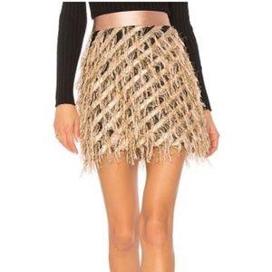 Milly Diagonal Modern Mini Skirt NWOT 10